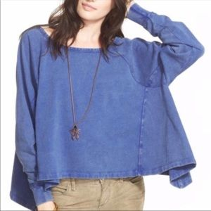 We the Free People cupcake sunrise blue pullover s